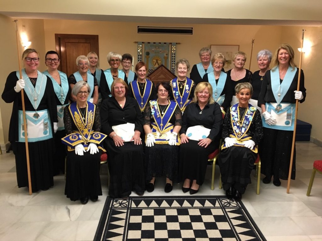 Costa Blanca Lodge of Tranquility 52 at their January meeting