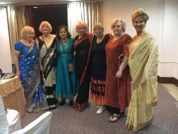 Saris on parade