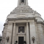 The iconic view of Freemasons' Hall in London