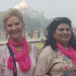 Our distinctive pink scarves