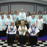 WM Tracey Worth and members of Rising Star Lodge No. 38