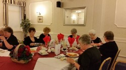 Festive board at the Headway Hotel